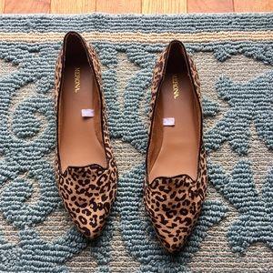 New merona Leopard Print Pointy Toe Flats 8.5